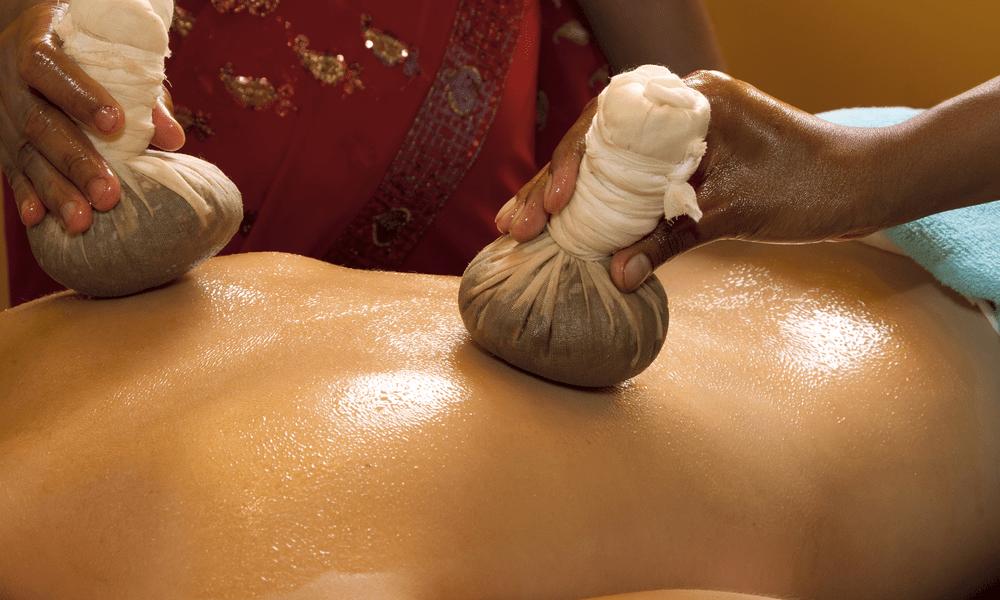 Stempel für eine ayurvedische Massage